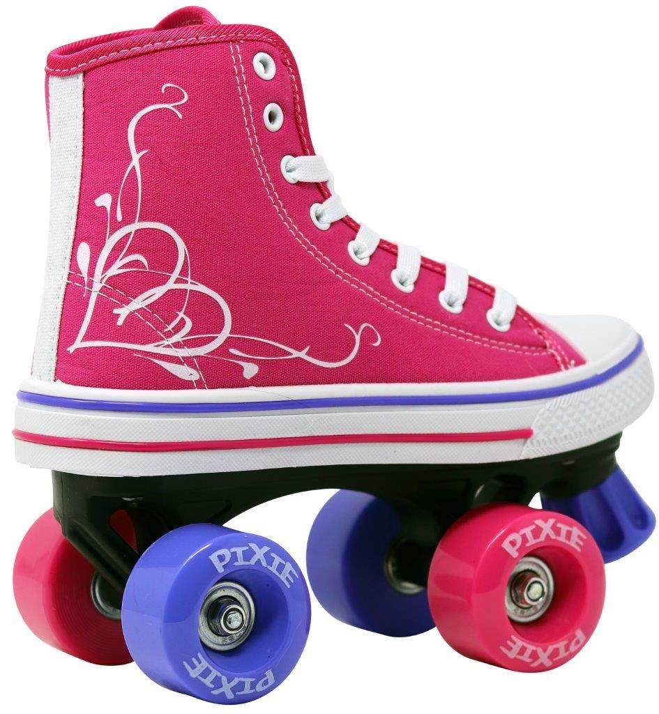 Roller Skates for GirlsHYPE Pixie Kid's Quad Roller Skates with High Top Shoe