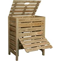 Compostador de madera con trampilla 400L