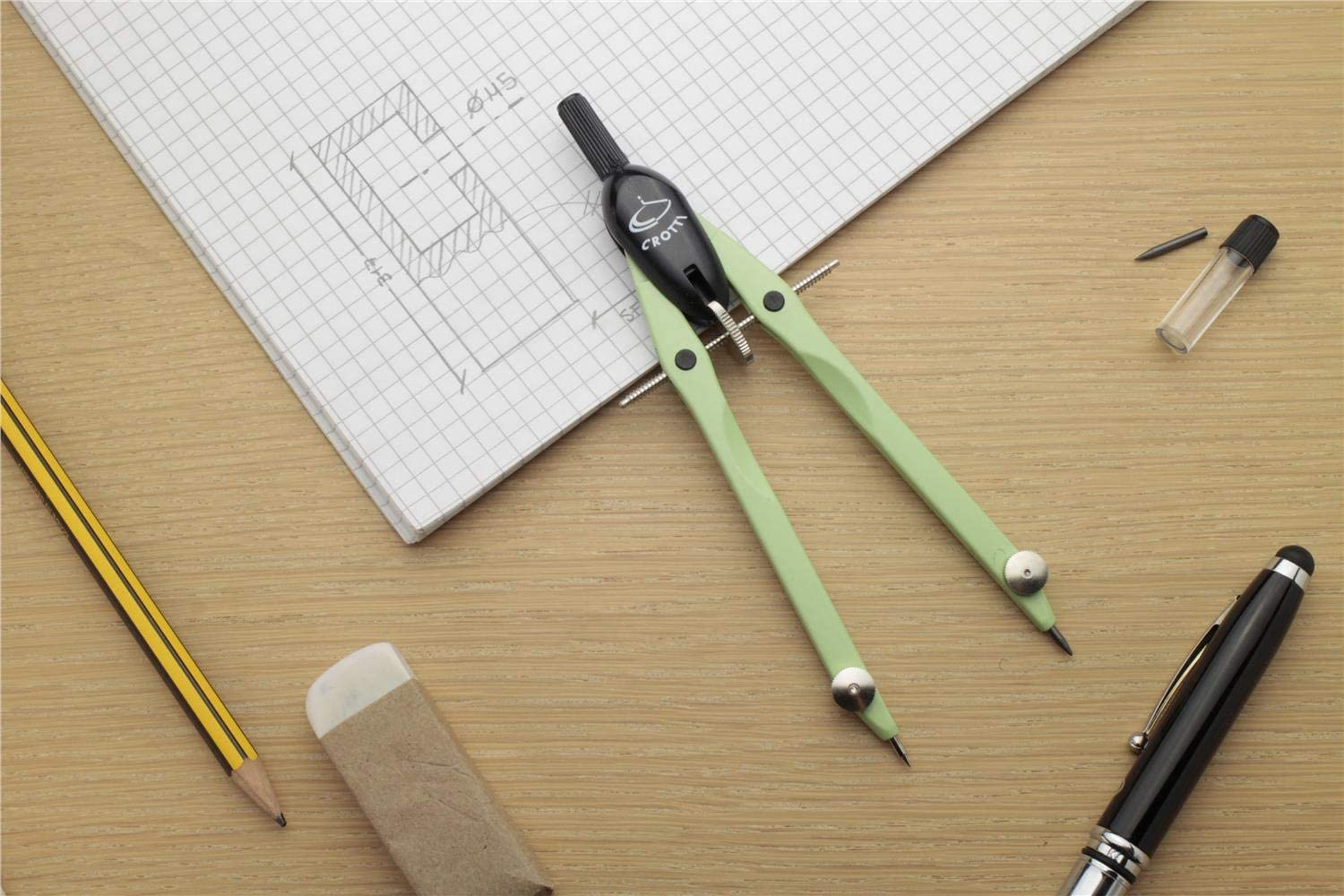 Balaustrone with Fixed rods with micrometric handling Pastel Green.