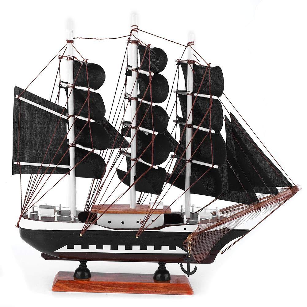 Segelboot Segelboot Piratenschiff Modell Craft Coastal Themen Ornament Vintage nautische handgefertigt f/ür Kind Geschenk Party Home Decoration