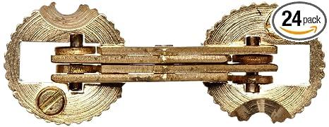 SOSS Mortise Mount Invisible Barrel Hinge, Solid Brass, Satin Brass Finish,  14mm Diameter, 3/4