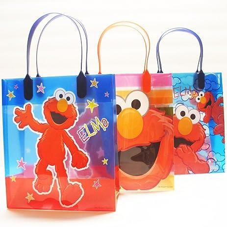 Amazon.com: Sesame Street Elmo Party Favor Goody Gift Bag - 8 ...