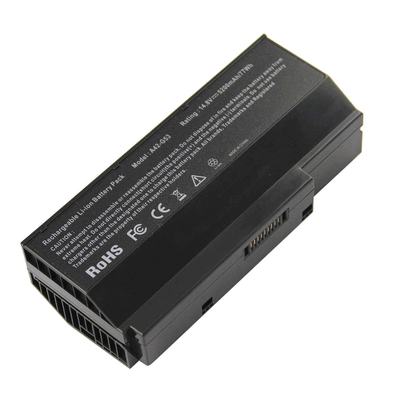 1c3bf85acaa0 ARyee 5200mAh 14.8V Battery Laptop Battery Replacement for Asus G53 ...
