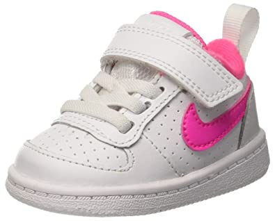 huge selection of fcb89 75f65 Nike Unisex Kids Court Borough Low (TDV) Basketball Shoes, (White Pink