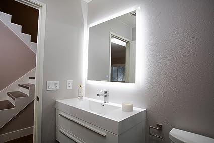 Amazon Com San Jose Window Shade Co Backlit Led Bathroom Mirror W