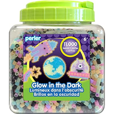 Perler Beads Glow in the Dark Beads for Kids Crafts, 11000 pcs: Arts, Crafts & Sewing