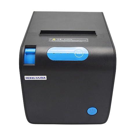 Impresora de Recibos térmica POS – Puerto Ethernet Serie USB Rollos de Papel térmico 80 mm compatibles para Impresora de Recibos térmica – Comandos de ...
