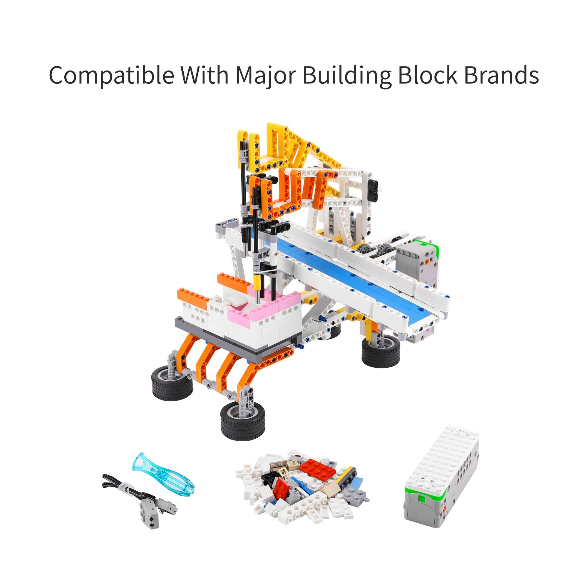 Apitor SuperBot, Educational Building Block 18 in 1 Robot Kit, APP Remote Control, STEM Coding Learning Toy, Ideal Gift for Kids 8+, Compatible with Major Building Block Toys (400+ Pieces) by Apitor Technology Co., Ltd. (Image #4)