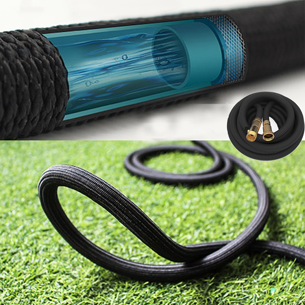 Skywee Upgraded Expandable Garden Hose - 50FT 3/4\