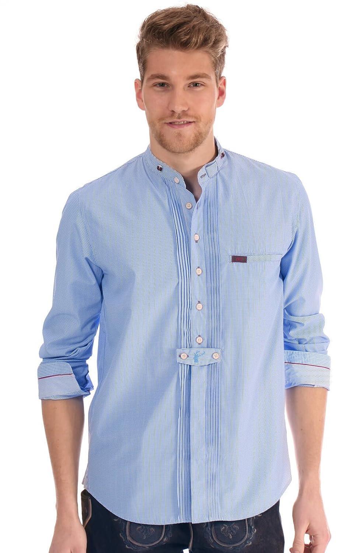 Spieth & Wensky Trachtenhemd Bruno hellblau