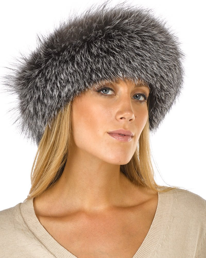 Frr Silver Indigo Fox Fur Headband by frr (Image #1)