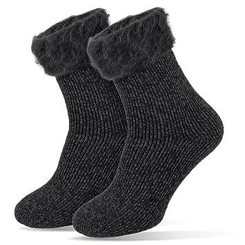 noorsk Hombre de Calcetines térmicos Invierno Medias extracálido 2.3 TOG, Antracita, 41/46: Amazon.es: Deportes y aire libre