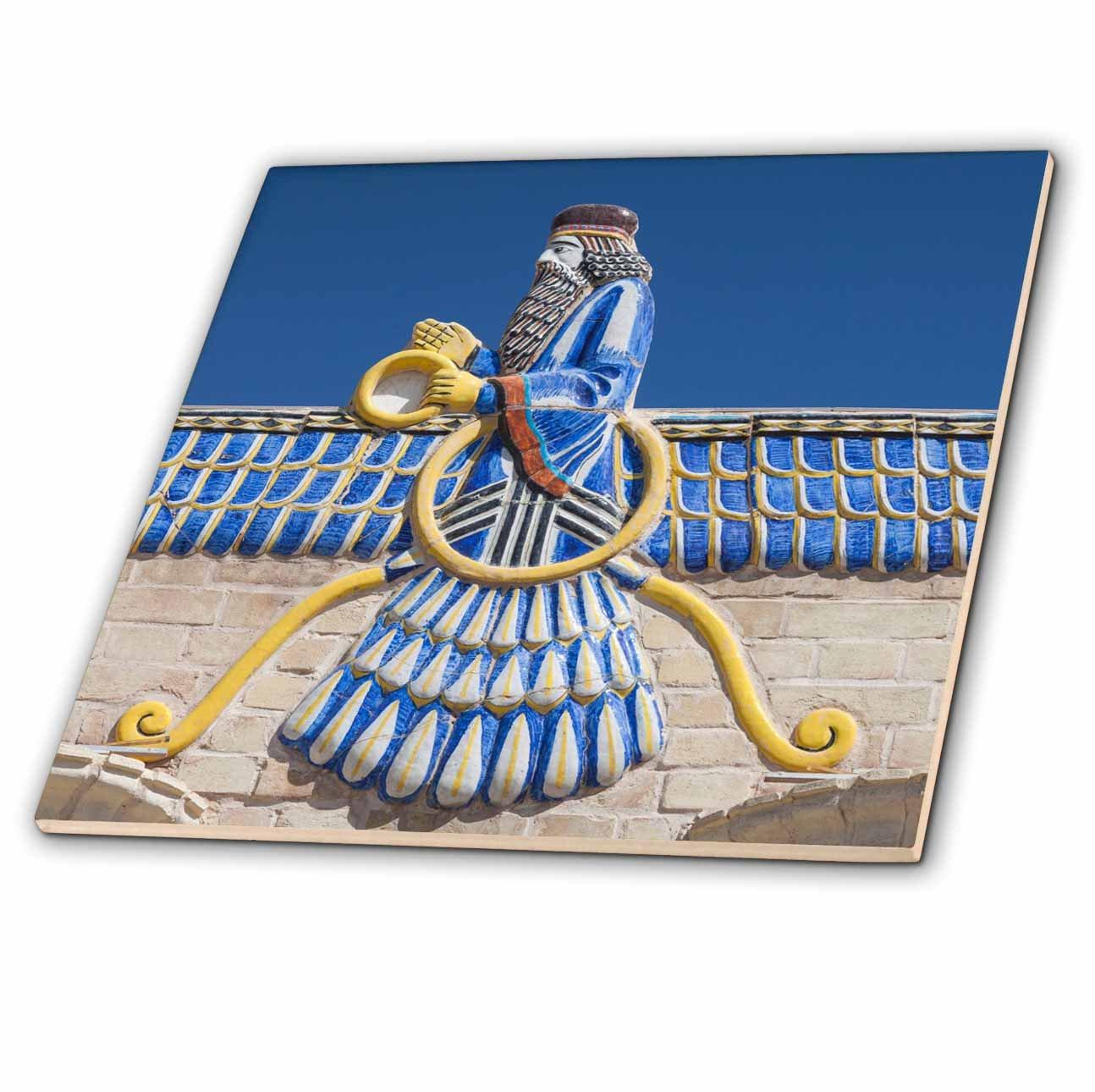 3dRose Danita Delimont - Artwork - Central Iran, Yazd, Ateshkadeh, Zoroastrian Fire Temple, Exterior - 8 Inch Glass Tile (ct_276824_7)