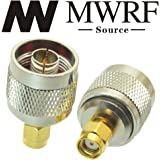 MWRF Source 2PCS RP-SMA Male (No Center Pin) to N male