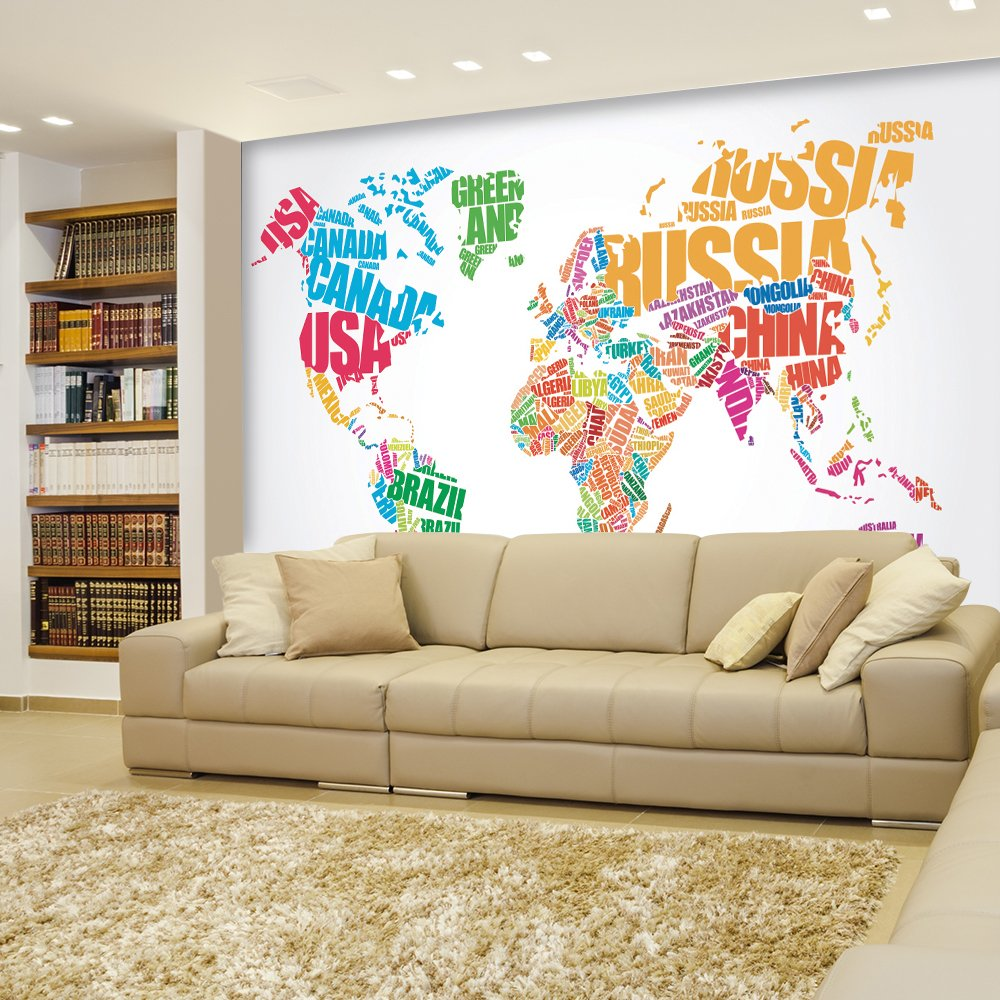 Political typographic map of the world in full color creative letter political typographic map of the world in full color creative letter design wall mural gumiabroncs Image collections