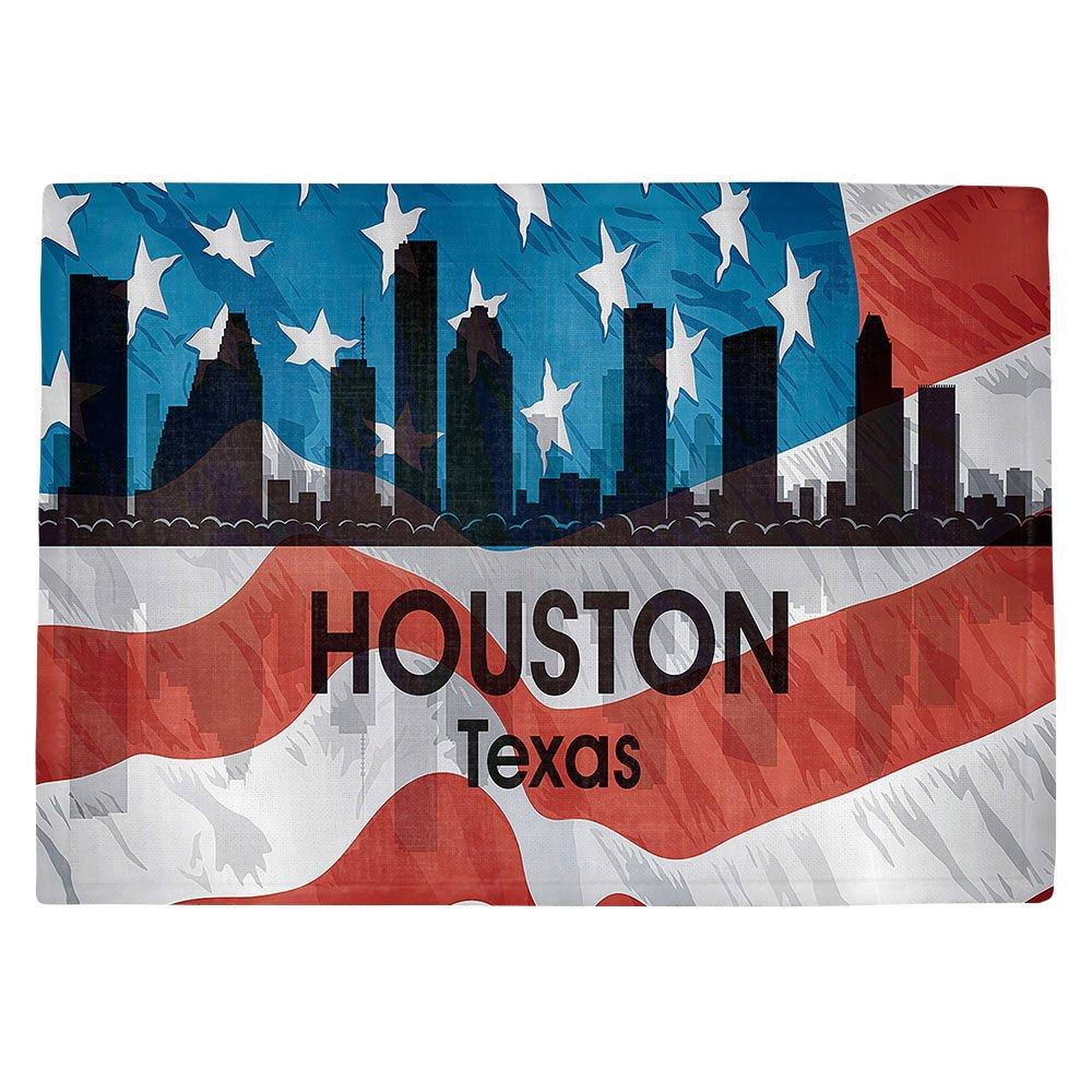 DIANOCHEキッチンPlaceマットby Artist Angelina Vick – City VI Houston Texas Set of 4 Placemats PM-AngelinaVickCityVIHoustonTX2 Set of 4 Placemats  B01N0APOGQ