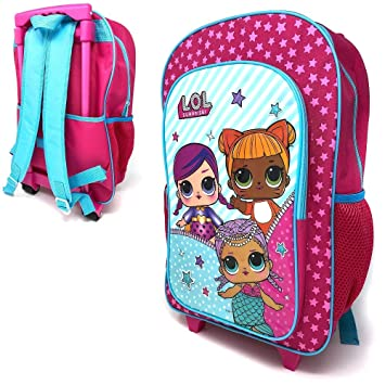 2b7ba7726649 Children's LOL Surprise Character Luggage Deluxe Wheeled Trolley Backpack  Suitcase Cabin Bag School