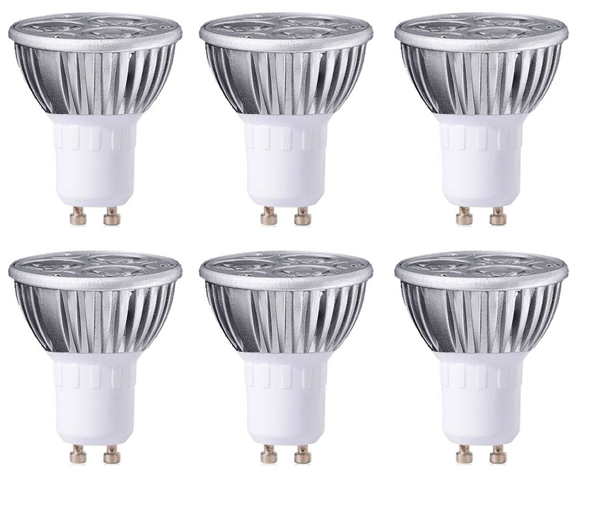 50W Halogen Bulbs Equivalent,500LM,6000K Cool White 6 Pack MODOAO 5W GU10 LED Bulbs Dimmable Spot Light Bulb,Recessed Lighting,110 Volts 30 Degree Beam Angle