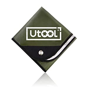 UTOOL Heavy Duty Emergency Blanket, Extra Large Thermal Tarp Reflective Survival Outdoor Emergency Blanket with Water Proof, 93% Heat Retention, Tear Resistant, Reusable Features