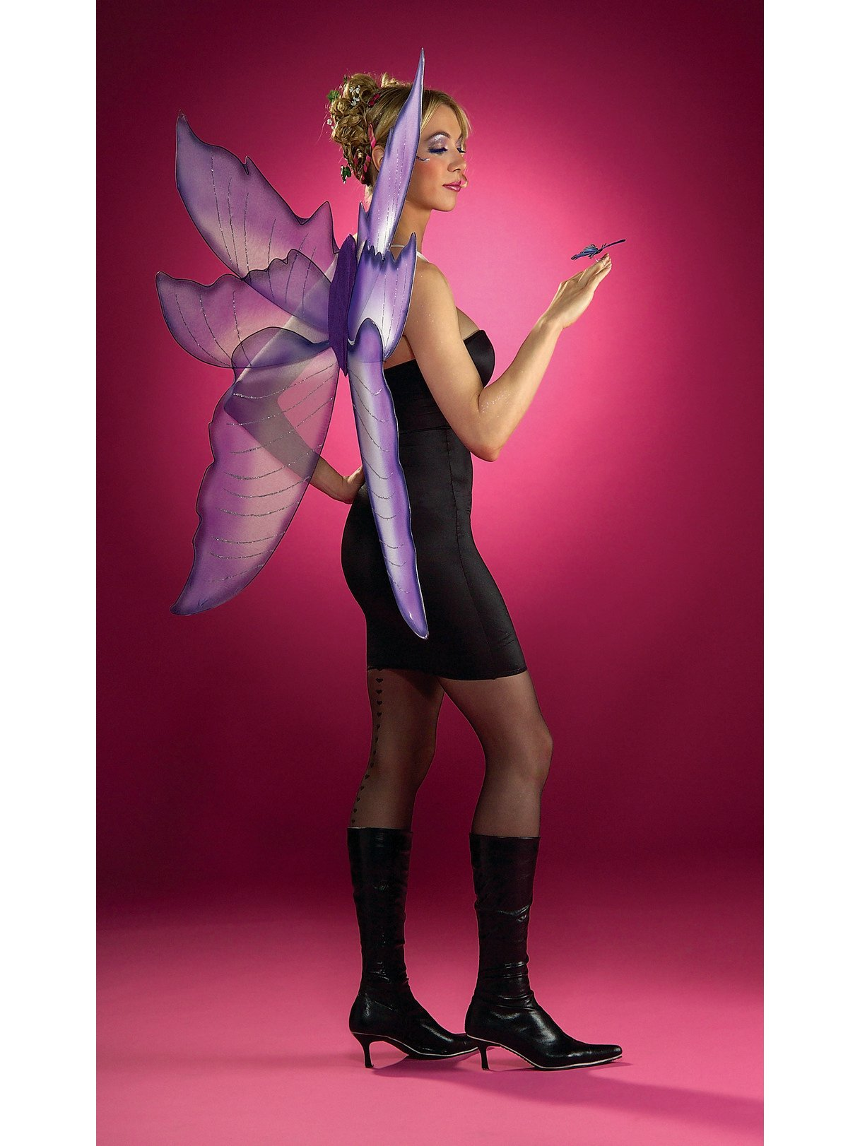 Silver Purple Wings Fairy