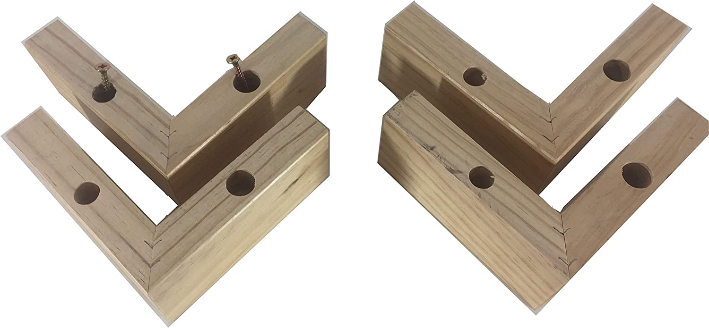 pack de 4 patas de madera para muebles, piernas con forma de ...