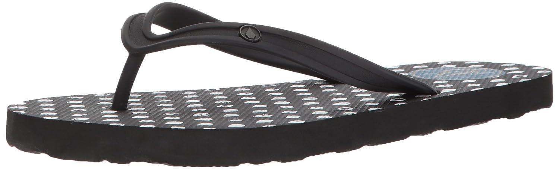 Volcom Women's Rocking 3 Graphic Printed Sandal Flip-Flop Black 8 B(M) US
