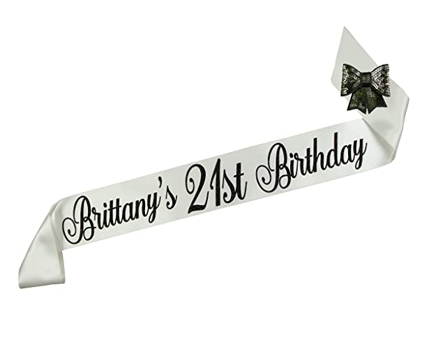 Personalized Any Age Birthday Party Sash