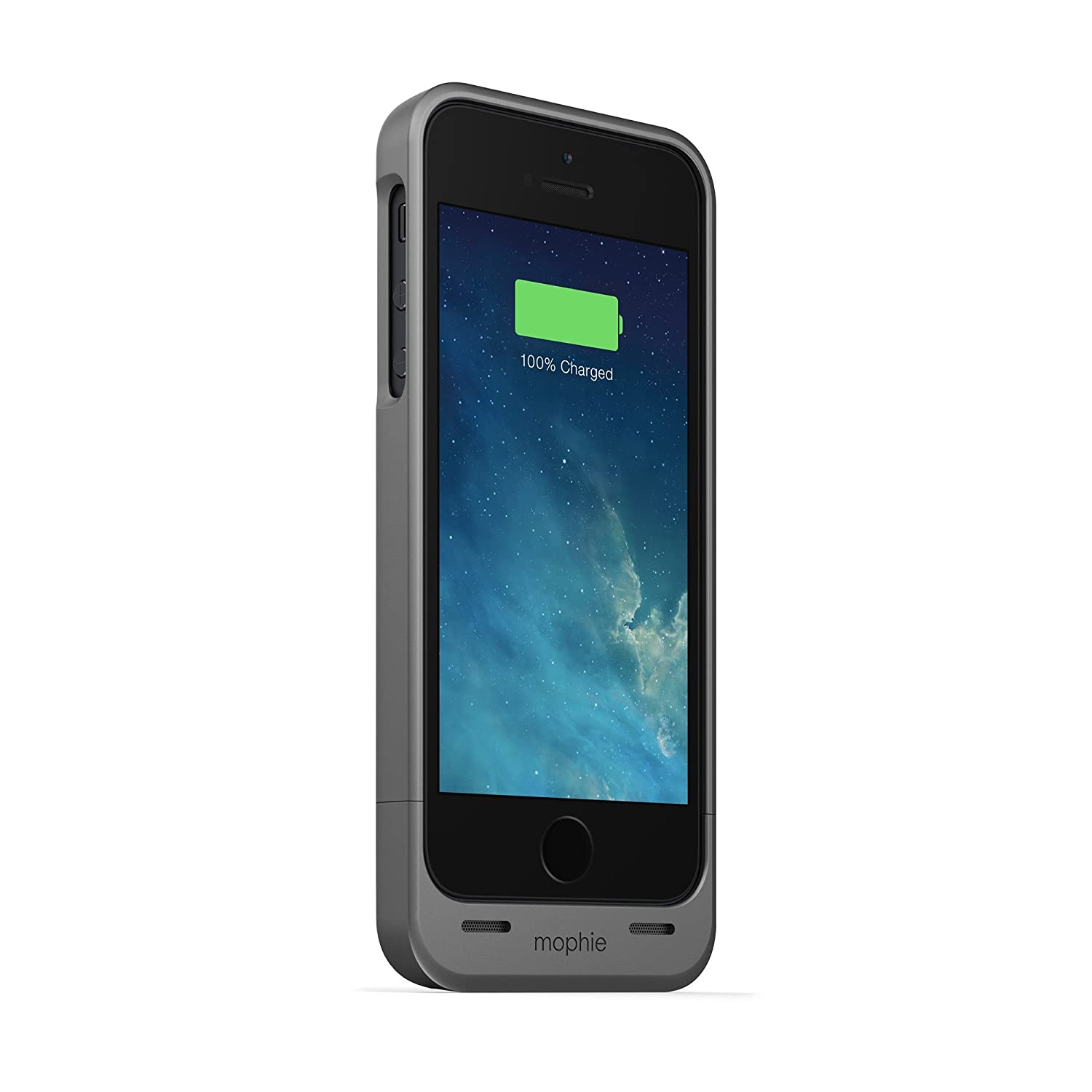 Mophie Juice Pack - Carcasa con Cargador para Apple iPhone 5 (1500 mAh), Gris