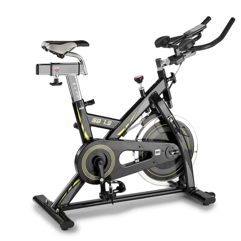 BH Fitness Indoorbike SB1.3-Schwungrad entspricht 16 kg-Kettenübertragung wie ein Rennrad-Triathlonlenker-Riemenpedale-Trainingscomputer-H9154S