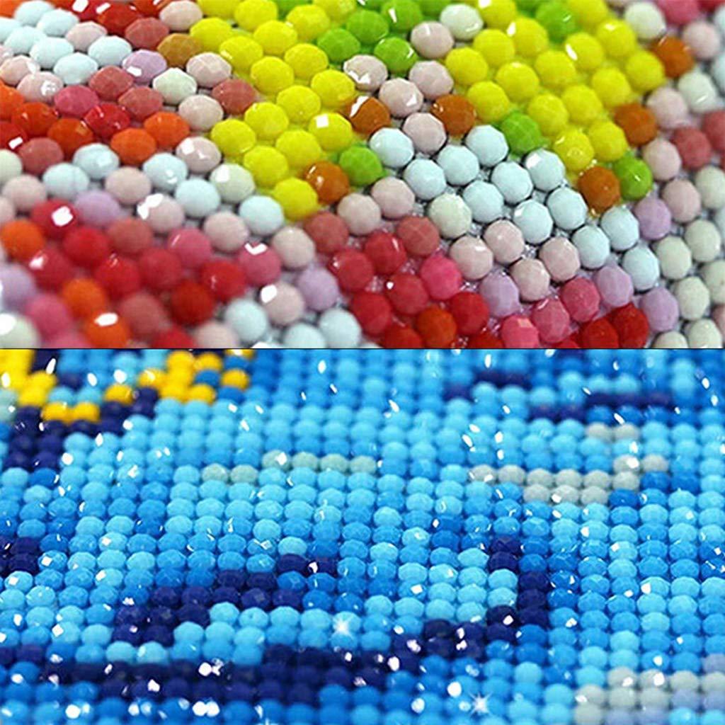 Luna Kit Completo de Pintura de Diamantes Kits de Bordado de Diamantes por Numbers Kits Crafts /& Sewing Cross Stitch decoraci/ón de Pared Dabixx 5D