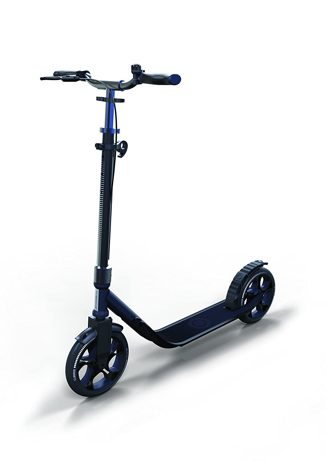 Globber Adult One Second Folding Adjustable Height Scooter with 230mm Wheels