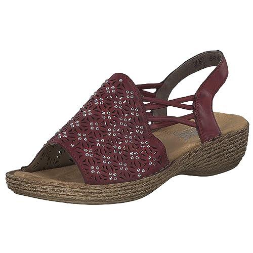 Rieker Damen Sandalette E 12 Rot (4)