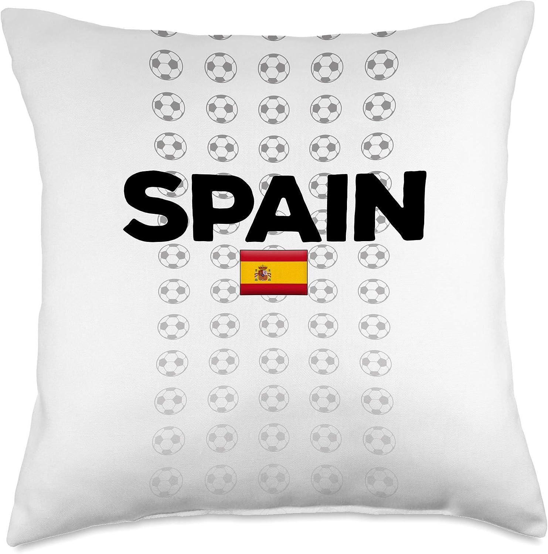 World Football Teams Gear Spain Soccer Spanish National Flag Football Fan Gift Throw Pillow, 18x18, Multicolor
