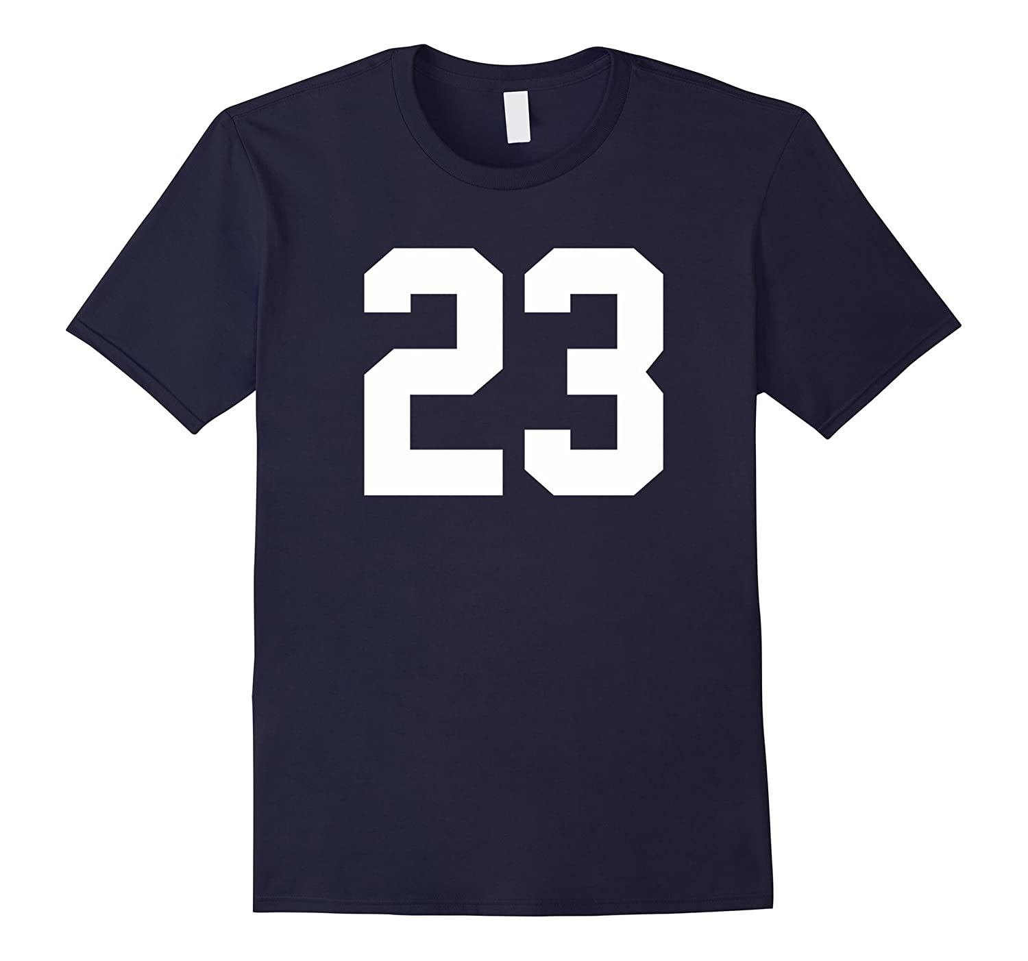 23 Sports Number T-Shirt for Team Fan My Favorite Player 23-PL