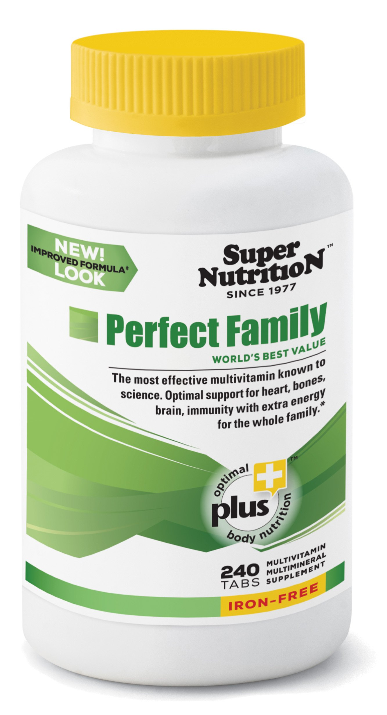 SuperNutrition Perfect Family Iron-Free Multivitamin, 240 Count