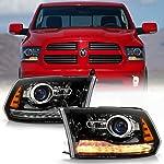 ACANII - For 2013-2018 Dodge Ram 1500 2500 3500 Black Housing