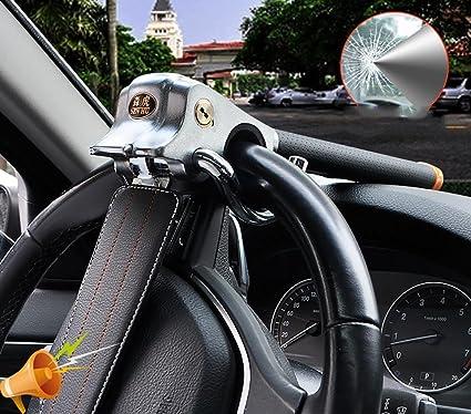 Car Steering Wheel Anti-theft Airbag Lock Clamp+Safety Hammer Black