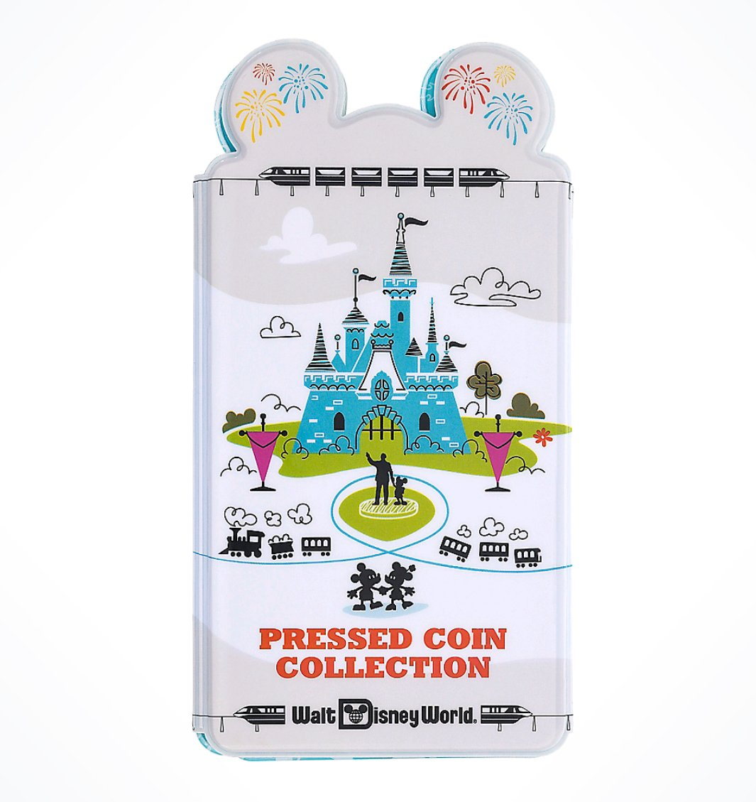 Disney World Theme Park Logo Pressed Penny Quarter Coin Book Album Disney Theme Parks