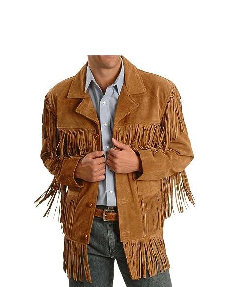 Amazon.com: Hombre Western flecos chaquetas hombres relojes ...