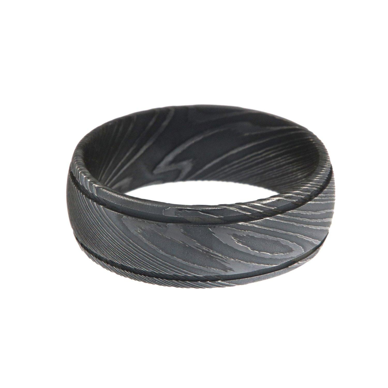Damascus Steel Ring Damascus Steel Rings For Men Amazon