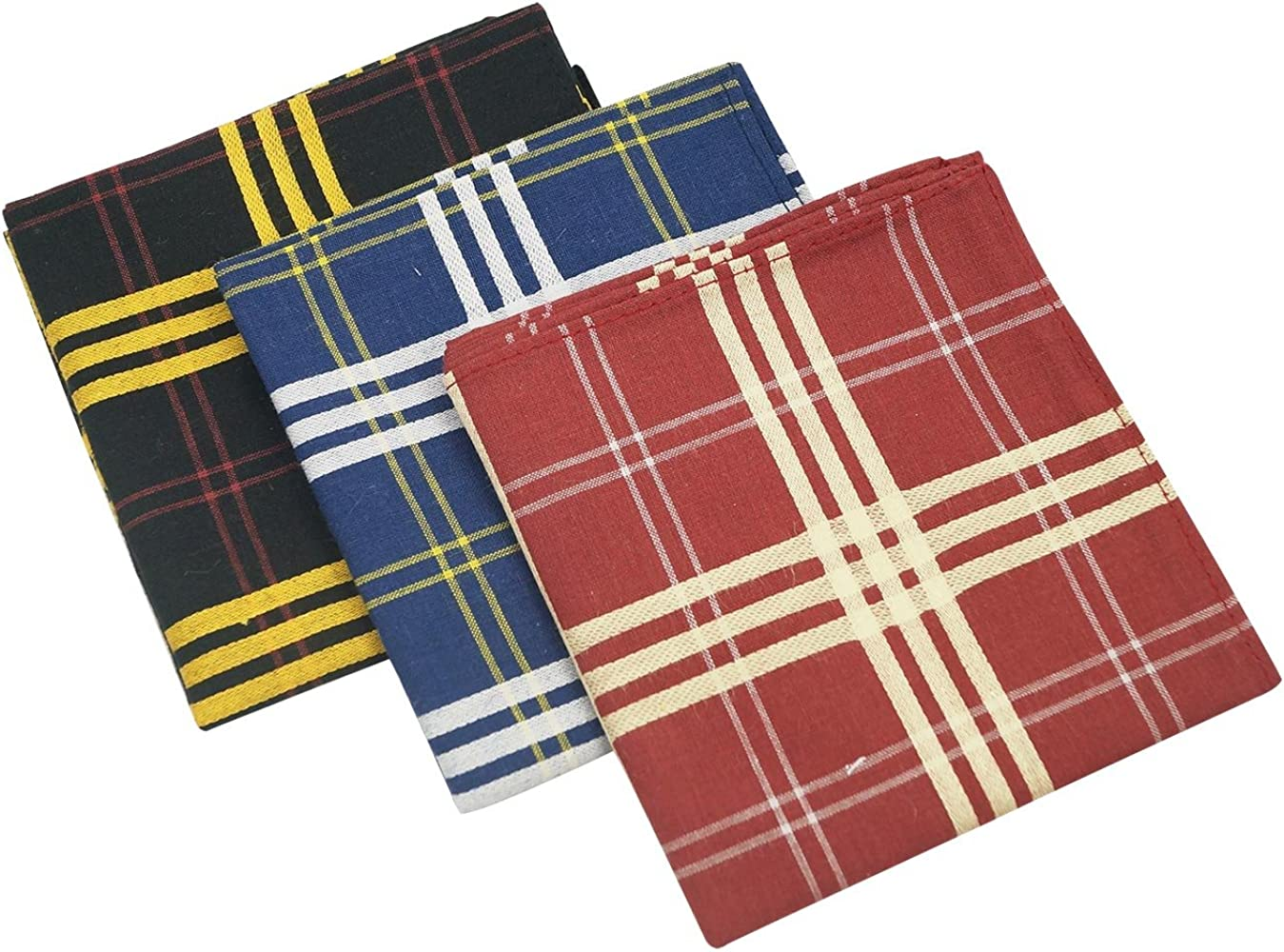 Zelue - (Pack de 3) Pañuelos de Algodón para Hombre Mujer de ...