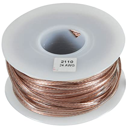 Amazon.com: JSC Wire Speaker Wire Cable 24 AWG Clear 100 ft. USA ...