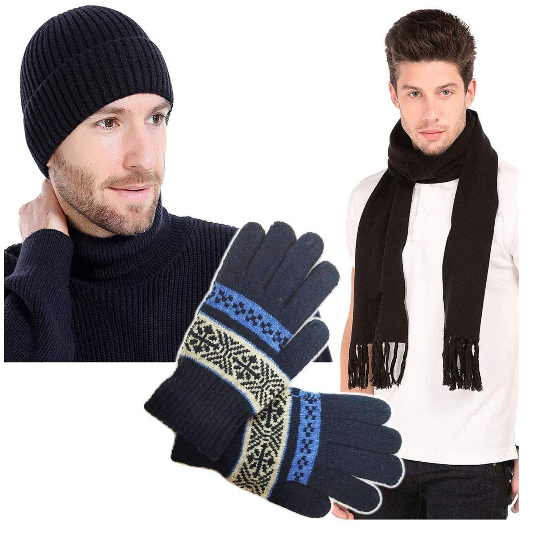 8da36af778f Grab Offers Winter Wear Warm Stylish Look Men Knitted Warmer Hand Gloves