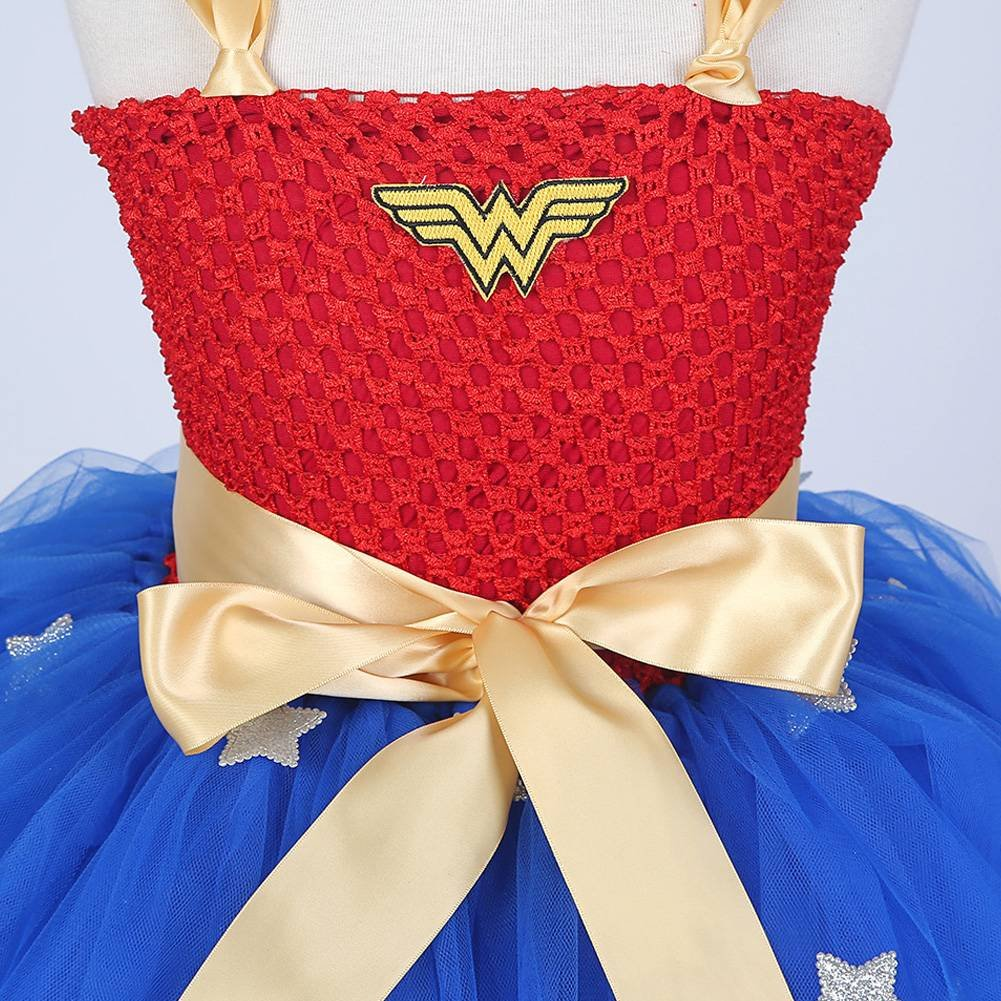 Moon Kitty Girls Captain America Costume Dresses Red by Moon Kitty (Image #4)