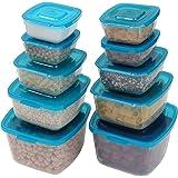 Rosa Yardwe Obstteller Kunststoff D/örrobst Box Bonbonschale Snack Tablett mit Deckel F/ünf F/ächer Servierteller
