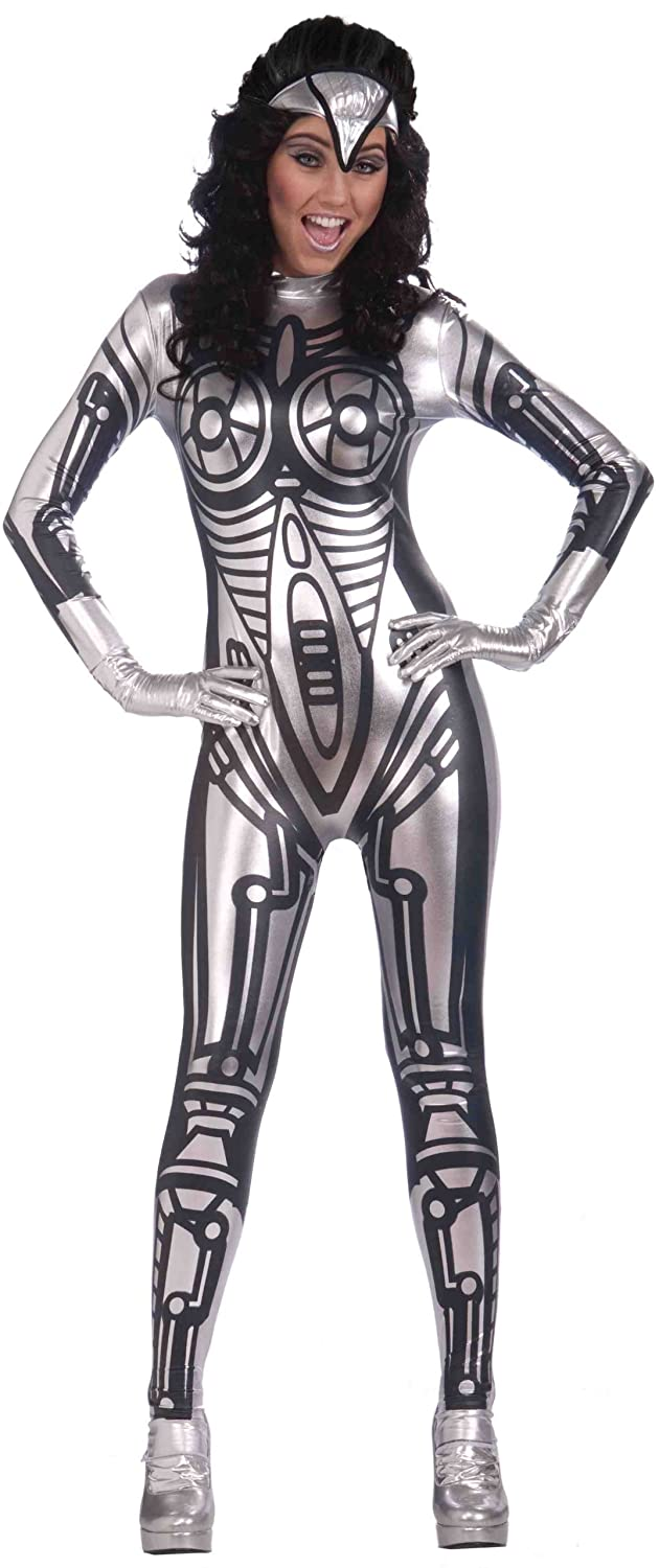 Amazon.com Forum Outta Space Female Robot Costume Gray One Size Clothing  sc 1 st  Amazon.com & Amazon.com: Forum Outta Space Female Robot Costume Gray One Size ...