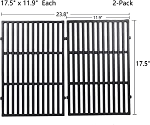 "GasSaf 17.5"" Grill Grates Replacement for Weber 7638, Spirit 300, Spirit E/S 310, E/S 320, E/S 330, Spirit 700, Genesis 1000-3500, Genesis Gold Silver Platinum B/C, Weber 900, Replaces for 7639 65906"