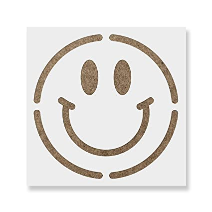 Smiley Face Stencil Template Reusable Stencil With Multiple Sizes Available