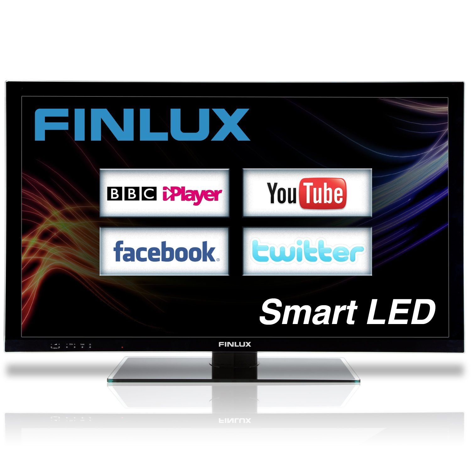 Finlux 40S8070-T 40-inch Widescreen Full HD 1080p Frameless Smart LED TV  with Freeview HD - Black