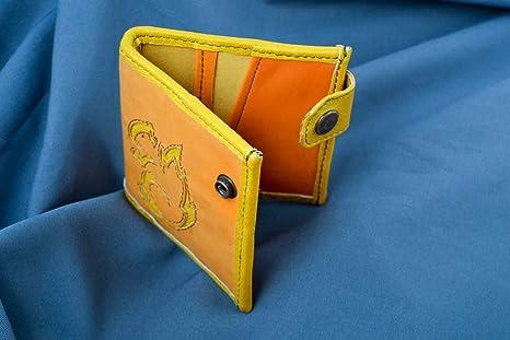 Monedero de cuero cartera de mujer hecha a mano regalo ...